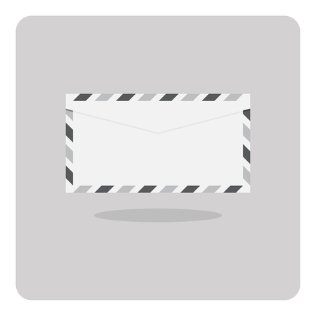 missive: Vector of flat icon, Envelope on isolated background