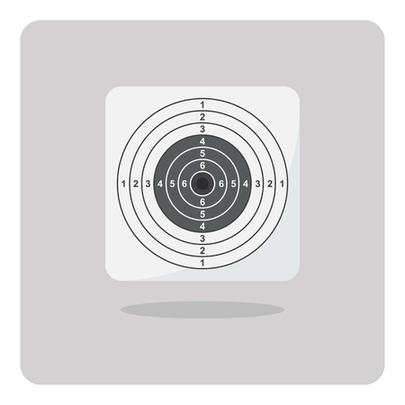 marksman: Vector of flat icon, Shooting target on isolated background