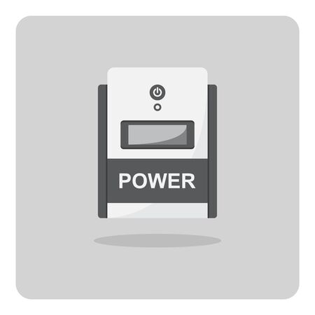 Vector design of flat icon, Uninterruptible power supply (UPS) on isolated background.