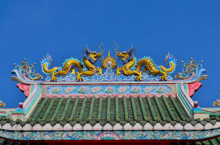 Temple roof china photo
