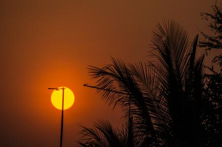 Sun light and antenna Banco de Imagens
