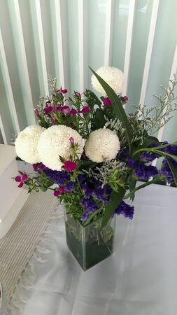 vase: Flowers in vase