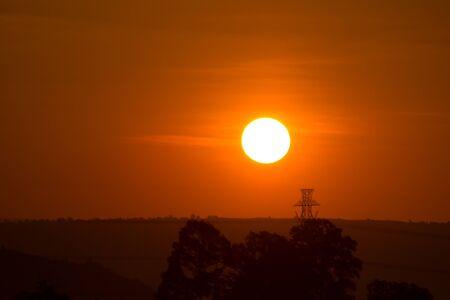 dao: Sunset on Phu Soi Dao National Park Si Nan Thailand.