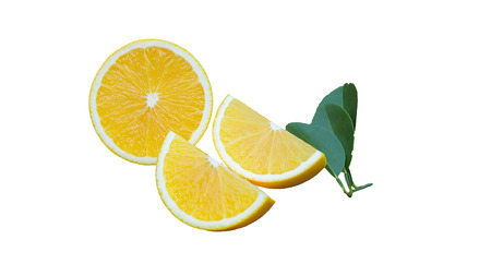 xwhite: fresh orange isolated on white background Stock Photo
