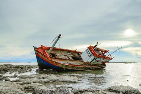 shipwreck: shipwreck - fishing boat asia Thailand