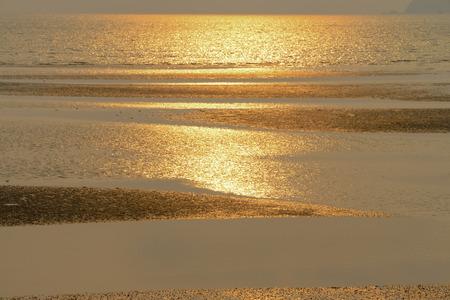 phenomena: Water into the sea during a line., And natural phenomena. Stock Photo