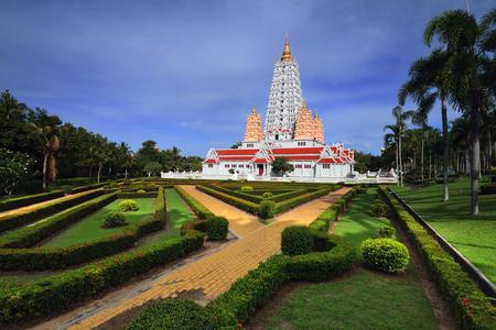 stu: Bodh Gaya style pagoda in Chonburi, Thailand Stock Photo