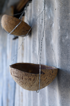 zinc: coconut shell suspension and zinc Stock Photo