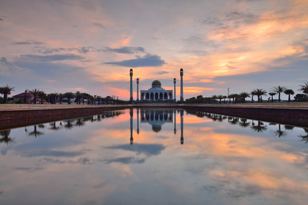 islamic scenery: Central Mosque, Songkhla, in Thailand. Stock Photo