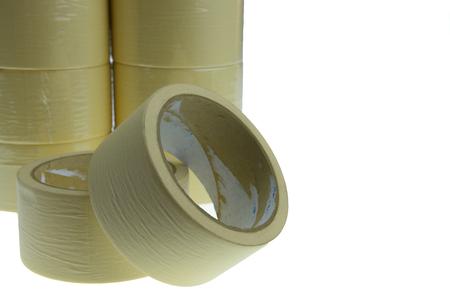 masking: the masking tape on the plain background.