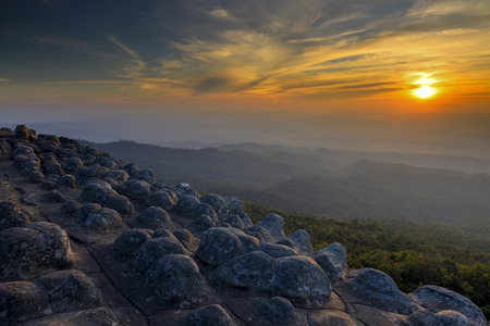 occurs: Sunset rocky button bedrock occurs naturally in Thailand.