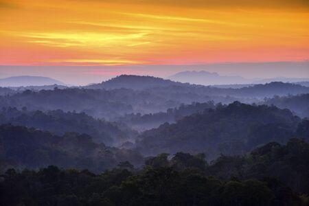 phu: Mountain and fog Landscape Phu Kho Thailand