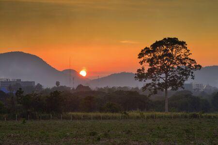 chonburi: Welcome landscape sunset at Pattaya Chonburi Thailand.