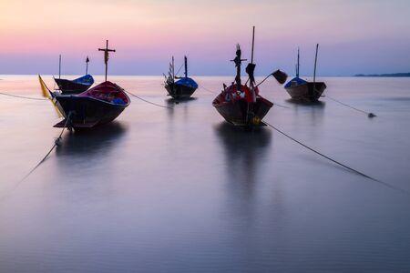 murk: The fishing boat old style at Kon Ao Beach, Rayong, Thailand Stock Photo