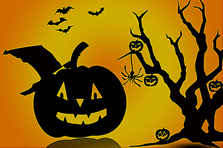 backlit: halloween Stock Photo