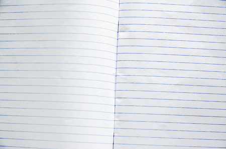 in lined: Old notebook page lined paper. Stock Photo