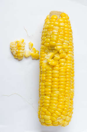 concoct: ears of Sweet corn isolated on white background Stock Photo