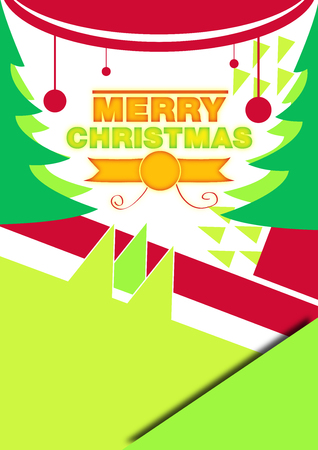 Santa Claus, Christmas,Happy New Year poster. Vector card. Lettering drawn typography. Stock Photo