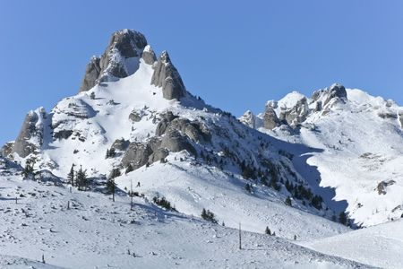 a mountain top in the middle of winter Stock Photo - 8162485