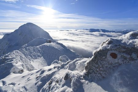 a mountain top in the middle winter Stock Photo - 8162496