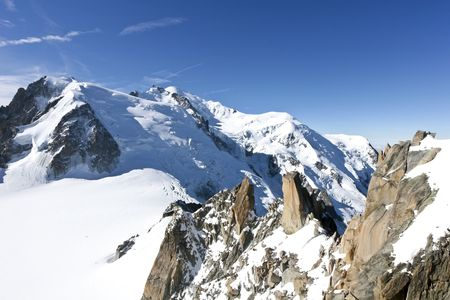 The l'Aiguille du Midi, Mont Blanc, Chamonix Stock Photo - 8219366