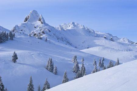 mountain top in winter, Ciucas Mountains, Romania Stock Photo - 8219365