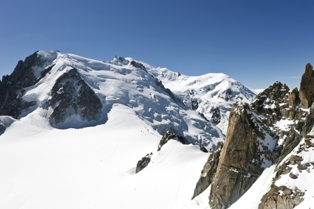 The l'Aiguille du Midi, Mont Blanc, Chamonix Stock Photo - 8463678