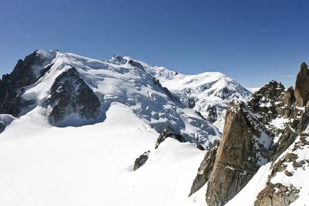 The l'Aiguille du Midi, Mont Blanc, Chamonix Stock Photo - 8463678