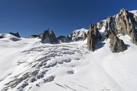 The l'Aiguille du Midi, Mont Blanc, Chamonix Stock Photo - 8463681