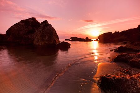 a beautiful sunrise on the beach Porto Zoro, Zakynthos, Greece Stock Photo - 9668577