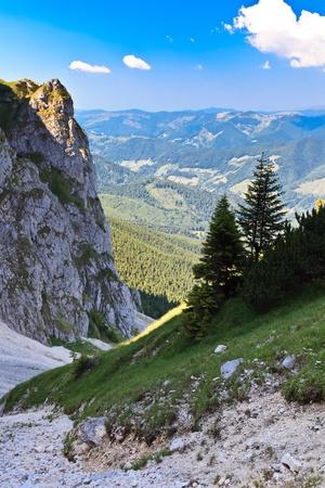 pendio di montagna in Piatra Craiului, Romania