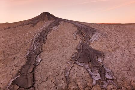 bu: Strange landscape produced bu active mud volcanoes