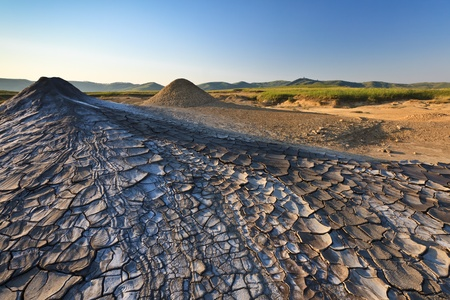 Strange landscape produced bu active mud volcanoes Stock Photo - 10264457