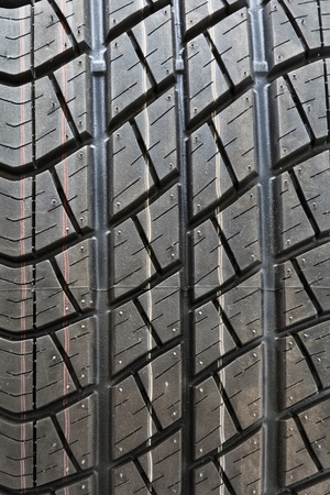 pneumatic tyres: a beautiful detail of a car tyre
