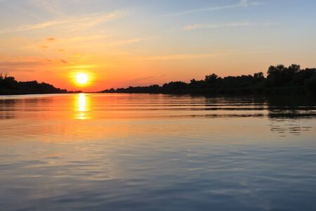a beautiful sunrise in the Danube Delta, Romania