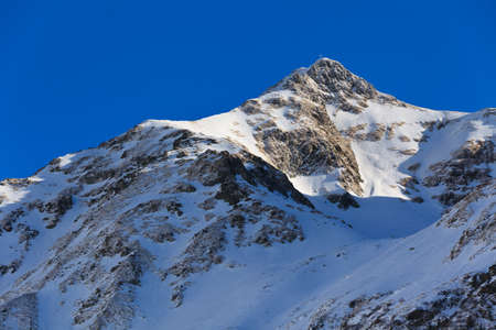 fagaras: winter mountain landscape with a blue sky, Fagaras Mountains, Romania
