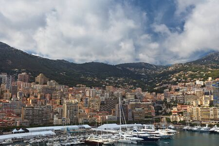 view of Monaco bay with luxury boats  French Riviera  photo