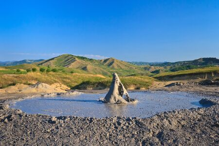 Strange landscape produced bu active mud volcanoes Stock Photo - 13605688