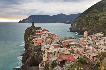 Vernazza villaggio di pescatori in Cinque Terre, Italia