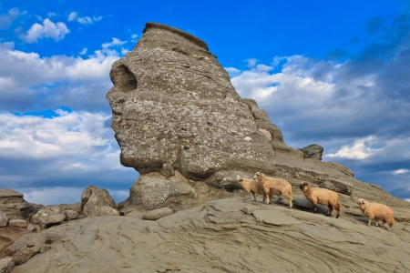 The Sphinx natural rock formation in Bucegi Mountains, Romania Stock Photo