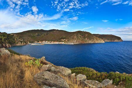 capraia: Port of Capraia Island, Tuscan Archipelago, Italy.