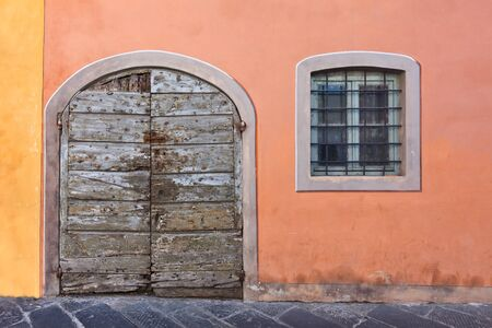 tuscan wooden doors arc windows florence italy tuscan stock photo picture and royalty