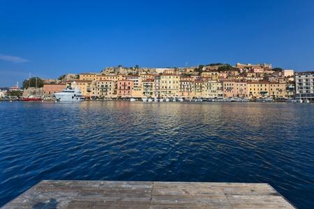 Porto Ferraio citt� panoama, Isola d'Elba, Toscana, Italia Archivio Fotografico