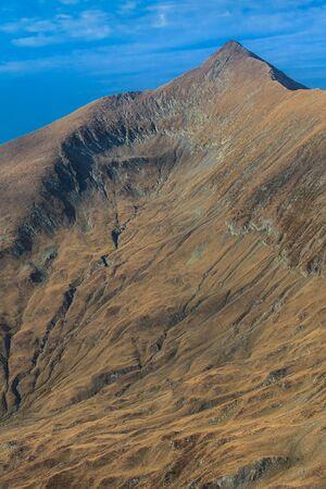 Paesaggio in montagne Charpathian di Moldoveanu, le vette pi� alte della Romania Moldoveanu 2544 m