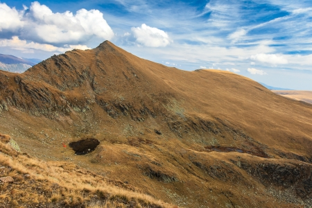 mountain landscape in the Carpathian Mountains, Fagaras, Romania Stock Photo - 17112557
