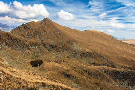 mountain landscape in the Carpathian Mountains, Fagaras, Romania Stock Photo - 17112557