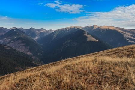 mountain landscape in the Carpathian Mountains, Fagaras, Romania