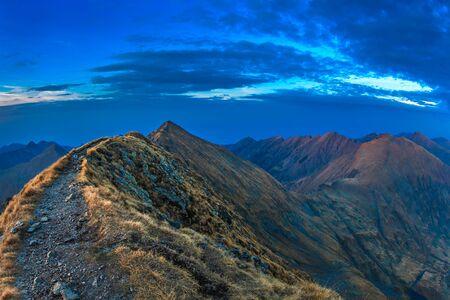 Fagaras Mountains, Romania. View from Moldoveanu Peak  2544m.