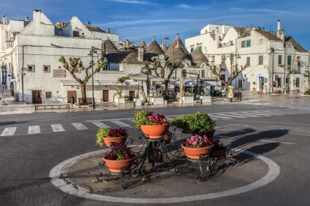 trulli: Typical trulli houses in Alberobello. Italy, Puglia