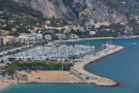 menton: Menton village near italian border, south of France Stock Photo